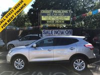USED 2014 64 NISSAN QASHQAI 1.6 DCI ACENTA PREMIUM 5d AUTO 128 BHP LOW MILEAGE, SOUGHT AFTER AUTOMATIC, REVERSE CAMERA FRONT & REAR PDC SENSORS, STUNNING SILVER/GREY METALLIC PAINTWORK, LOVELY GREY CLOTH INTERIOR, CRUISE CONTROL, LOVELY GREY CLOTH INTERIOR, CRUISE