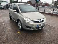 USED 2008 08 VAUXHALL ZAFIRA 1.9 DESIGN CDTI 16V 5d AUTO 148 BHP 7 Seater-Sat Nav-Automatic-Service History-Diesel