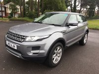 USED 2012 12 LAND ROVER RANGE ROVER EVOQUE 2.2 TD4 PURE 5d 150 BHP 1 OWNER WITH ONLY 36000 FSH IN GREY WITH FULL ALMOND LEATHER