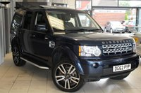 USED 2012 62 LAND ROVER DISCOVERY 3.0 4 SDV6 HSE 5d AUTO 255 BHP 7 FULL BLACK LEATHER SEATS + FULL SERVICE HISTORY + SAT NAV + REVERSE CAMERA + 19 INCH ALLOYS + FRONT AND REAR HEATED SEATS + XENONS + BLUETOOTH