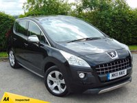 USED 2011 11 PEUGEOT 3008 2.0 HDI EXCLUSIVE 5d 128 POINT AA INSPECTED*CRUISE CONTROL*PARKING SENSORS*