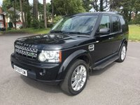 USED 2010 59 LAND ROVER DISCOVERY 3.0 4 TDV6 HSE 5d AUTO 245 BHP ONE OWNER TOP SPEC IN BLACK WITH CREAM LEATHER BACKED UP BY FSH