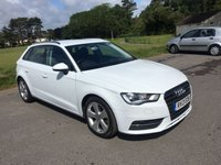 USED 2013 13 AUDI A3 2.0 TDI SPORT 5d 148 BHP ONE OWNER NEW SHAPE IN WHITE WITH FSH 5 DOOR SAT NAV