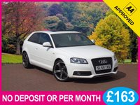 USED 2010 59 AUDI A3 1.8 TFSI S LINE BLACK EDITION 3dr  PRICE CHECKED DAILY – WHY PAY MORE ??