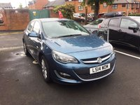 USED 2014 14 VAUXHALL ASTRA 2.0 ELITE CDTI S/S 5d 163 BHP EXCELLENT FUEL ECONOMY!!..HEATED SEATS!!,,LEATHER!!..LOW CO2 EMISSIONS(119G/KM) ..£30 ROAD TAX!!!...ONLY 8063 MILES FROM NEW!!..CRUISE CONTROL!!
