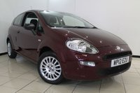 USED 2012 12 FIAT PUNTO 1.2 POP 3DR 69 BHP FULL SERVICE HISTORY + 0% FINANCE AVAILABLE T&C'S APPLY + AIR CONDITIONING + MULTI FUNCTION WHEEL + RADIO/CD + ELECTRIC WINDOWS