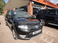 USED 2016 16 DACIA SANDERO 1.5 STEPWAY LAUREATE DCI 5d 90 BHP DIESEL WITH SAT NAV IN BLACK APPROVED CARS ARE PLEASED TO OFFER THIS  DACIA SANDERO 1.5 STEPWAY LAUREATE DCI 5 DOOR 90 BHP DIESEL WITH SAT NAV IN BLACK WITH SAT NAV,REAR PARKING SENSORS,ROOF RAILS AND BLUETOOTH IN STUNNING CONDITION WITH ONLY 8600 MILES ON THE CLOCK.