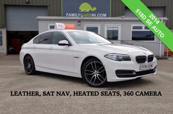 2014 BMW 5 SERIES 2.0 518D SE AUTO 141 BHP *SAT NAV,LEATHER,HEATED SEATS* £15950.00