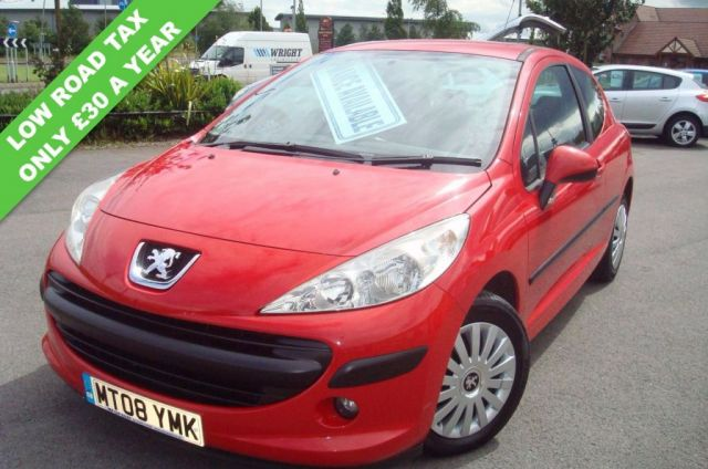 2008 08 PEUGEOT 207 1.6 S 3d 89 BHP  £30 A YEAR ROAD TAX LOW MILEAGE