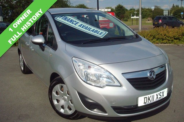 2011 11 VAUXHALL MERIVA 1.4 EXCLUSIV 5d 98 BHP FULL SERVICE HISTORY 6 STAMPS