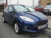 USED 2015 64 FORD FIESTA 1.2 ZETEC 5d 81 BHP only 8658 miles, 1 owner, service history, air conditioning.