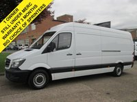 USED 2014 64 MERCEDES-BENZ SPRINTER 2.1 313CDI LWB HIGH ROOF FACELIFT. 1 OWNER. FSH.  MERCEDES WARRANTY. LOW RATE FINANCE. PX WELCOME
