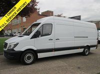 USED 2014 14 MERCEDES-BENZ SPRINTER 2.1 313CDI LWB HIGH ROOF FACELIFT. 1 OWNER. FSH. ONLY 106K. LOW RATE FINANCE. MERC WARRANTY. PX WELCOME