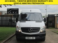 USED 2015 64 MERCEDES-BENZ SPRINTER 2.1 313CDI LWB HIGH ROOF FACELIFT. 1 OWNER. FSH. PX LOW RATE FINANCE. CLEAN EXAMPLE. PX WELCOME