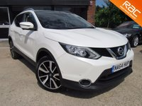 USED 2014 64 NISSAN QASHQAI 1.6 DCI TEKNA 5d 128 BHP ONE OWNER, LEATHER, SAT NAV, PANORAMIC ROOF, REVERSE CAMERA, PARKING SENSORS, FULL SERVICE HISTORY, SPARE KEY