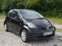 USED 2007 07 TOYOTA AYGO 1.0 BLACK VVT-I MM 3d AUTO 69 BHP