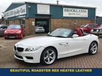"USED 2013 13 BMW Z4 2.0 Z4 SDRIVE20I M SPORT ROADSTER 2d 181 BHP Beautiful Roadster White with Red Heated Leather DAB Radio with Bluetooth 18"" Alloys Electric Roof op"