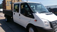 USED 2013 13 FORD TRANSIT 2.2 350 DRW 1d 99 BHP CREW CAB TIPPER 1 OWNER 2 KEYS NO VAT /////