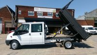 USED 2013 13 FORD TRANSIT 2.2 350 DRW 1d 99 BHP CREW CAB TIPPER 1 OWNER 2 KEYS FULL VOSA