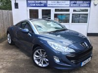 USED 2012 12 PEUGEOT RCZ 1.6 THP GT 2d 156 BHP 43K FSH JUST  ONE OWNER  STUNNING BLUE METALLIC