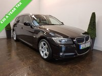 USED 2012 61 BMW 3 SERIES 2.0 318D EXCLUSIVE EDITION TOURING 5d 141 BHP FULL LEATHER+CRUISE+AA COVER
