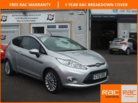 USED 2012 12 FORD FIESTA 1.4 TITANIUM 3d AUTO 96 BHP 5 service stamps / Reverse Camera
