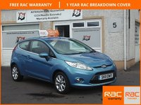 USED 2011 11 FORD FIESTA 1.2 ZETEC 3d 81 BHP Bluetooth , Heated Windscreen , 6 Service Stamps