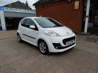 USED 2012 12 PEUGEOT 107 1.0 ALLURE 3d 68 BHP FULL HISTORY,TWO KEYS,AIR CON,USB PORT