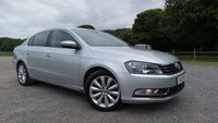 "USED 2013 13 VOLKSWAGEN PASSAT 1.6 HIGHLINE TDI BLUEMOTION TECHNOLOGY 4d 104 BHP INTERNET SPECIAL PRICE, EXCELLENT VALUE PASSAT 1.6 TDI 105 BLUEMOTION HIGHLINE IN SILVER WITH COLOUR SCREEN SAT NAV, 17"" ALLOY WHEELS, CLIMATE CONTROL, PARKING SENSORS, 2 KEYS, ONLY £30 PER YEAR ROAD TAX"