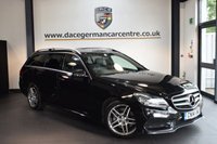 USED 2014 14 MERCEDES-BENZ E CLASS 3.0 E350 CDI BLUETEC AMG SPORT 5DR AUTO 249 BHP + HALF BLACK LEATHER INTERIOR + FULL MERC SERVICE HISTORY + 1 OWNER FROM NEW + SATELLITE NAVIGTAION + BLUETOOTH + HEATED COMFORT SEATS + HARMAN/KARDON SPEAKERS + CRUISE CONTROL + DAB RADIO + PARKING SENSORS + 18 INCH ALLOY WHEELS +