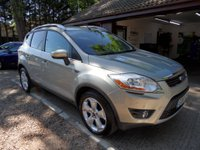 USED 2010 10 FORD KUGA 2.0 TITANIUM TDCI 2WD 5d 134 BHP COLOUR SAT-NAV, 2 KEYS, HALF LEATHER, USB AND AUX CONNECTION, FULL SERVICE HISTORY