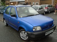 USED 1996 N NISSAN MICRA 1.3 LX 5d 75 BHP ONLY 2 FORMER KEEPER+MOT JAN 2018