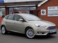 USED 2015 15 FORD FOCUS 2.0 TDCi TITANIUM X 5dr AUTO (150) * Leather Nav & Camera *