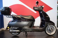 USED 2016 66 PEUGEOT DJANGO 125 ALLURE BLACKCURRANT PURPLE, BRAND NEW, PRE REGISTERED VESPA STYLE