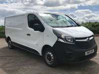 USED 2015 VAUXHALL VIVARO 1.6 2900 L2H1 CDTI P/V 1d 114 BHP VERY LOW MILES + ONE OWNER