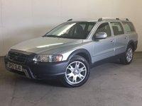 USED 2007 57 VOLVO XC70 2.4 D5 SE SPORT 5d AUTO 183 BHP AWD LEATHER CRUISE MOT 06/18 FSH AWD. STUNNING SILVER MET WITH FULL BLACK LEATHER TRIM. ELECTRIC MEMORY HEATED SEATS. CRUISE CONTROL. 17 INCH ALLOYS. COLOUR CODED TRIMS. PARKING SENSORS. CLIMATE CONTROL. R/CD PLAYER. MFSW. TOWBAR. MOT 06/18. FULL SERVICE HISTORY. PRISTINE CONDITION. FCA FINANCE APPROVED DEALER. TEL 01937 849492