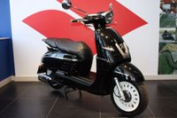 USED 2016 66 PEUGEOT DJANGO 125 HERITAGE INK BLACK, BRAND NEW, PRE REGISTERED VESPA STYLE