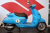 USED 2016 66 PEUGEOT DJANGO 125 SPORT FRENCH BLUE, BRAND NEW, PRE REGISTERED VESPA STYLE