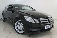 USED 2013 13 MERCEDES-BENZ E CLASS 2.1 E220 CDI BLUEEFFICIENCY SPORT 2DR AUTOMATIC 170 BHP SERVICE HISTORY + 0% FINANCE AVAILABLE T&C'S APPLY + HEATED HALF LEATHER SEATS + SAT NAVIGATION + PARKING SENSORS + BLUETOOTH + CRUISE CONTROL + MULTI FUNCTION WHEEL