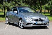 USED 2013 13 MERCEDES-BENZ E CLASS 2.1 E250 CDI BLUEEFFICIENCY SPORT 2d AUTO 204 BHP