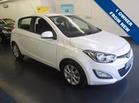 USED 2013 63 HYUNDAI I20 1.2 ACTIVE 5d 84 BHP 1 OWNER FROM NEW, FSH, FULLY SERVICED AND NEW MOT
