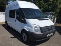 USED 2012 62 FORD TRANSIT 350 2.2 125 BHP 9 SEATER LONG HI/ROOF**70 VANS IN STOCK**