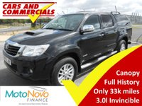 2014 TOYOTA HI-LUX Double Cab Invincible 3.0 D-4D 4WD 171ps £14995.00