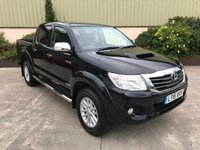 USED 2015 15 TOYOTA HI-LUX 3.0 INVINCIBLE 4X4 D-4D DCB 1d 169 BHP SAT NAV, LEATHER, REVERSE CAMERA, NEVER TOWED, ALLOYS, LINER