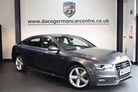 USED 2013 13 AUDI A5 3.0 SPORTBACK TDI QUATTRO S LINE 5DR AUTO 245 BHP + FULL BLACK LEATHER INTERIOR + 1 OWNER FROM NEW + AUDI SERVICE HISTORY + BLUETOOTH + HEATED SPORT SEATS + AUXILIARY PORT + HEATED MIRRORS + S LINE PORT PACKAGE + PARKING SENSORS + 18 INCH ALLOY WHEELS +