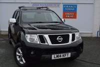USED 2014 14 NISSAN NAVARA 2.5 DCI TEKNA 4X4 SHR DCB 1d 188 BHP + VAT....HIGH SPEC NAVARRA WITH LEATHER, SAT NAV, CLIMATE, CRUISE, REVERSE CAMERA... THE LIST GOES ON!!