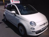 USED 2012 12 FIAT 500 1.2 LOUNGE 3d 69 BHP Panoramic Roof........Stop/Start