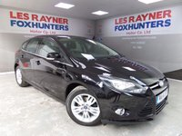 USED 2014 14 FORD FOCUS 1.6 TITANIUM NAVIGATOR TDCI 5d 113 BHP Full Ford Service History, 1 owner from new, Sat Nav