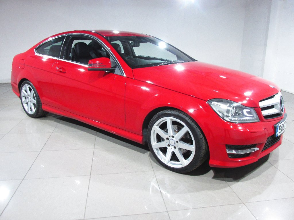 USED 2012 62 MERCEDES-BENZ C-CLASS 1.6 C180 BlueEFFICIENCY AMG Sport Sport Coupe 7G-Tronic Plus 2dr Nav/Leather/Bluetooth/DAB