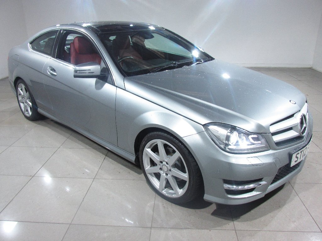 USED 2012 12 MERCEDES-BENZ C-CLASS 2.1 C250 CDI AMG Sport 7G-Tronic Plus 2dr Panoramic Roof/Red Leather/Nav